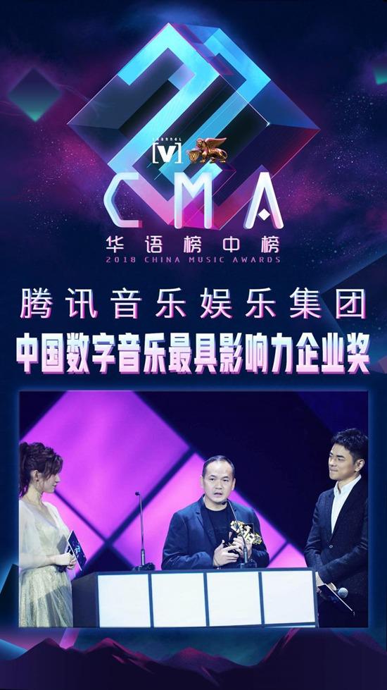 腾讯音乐推动中国数字音乐产业升级 斩获最具影响力企业大奖